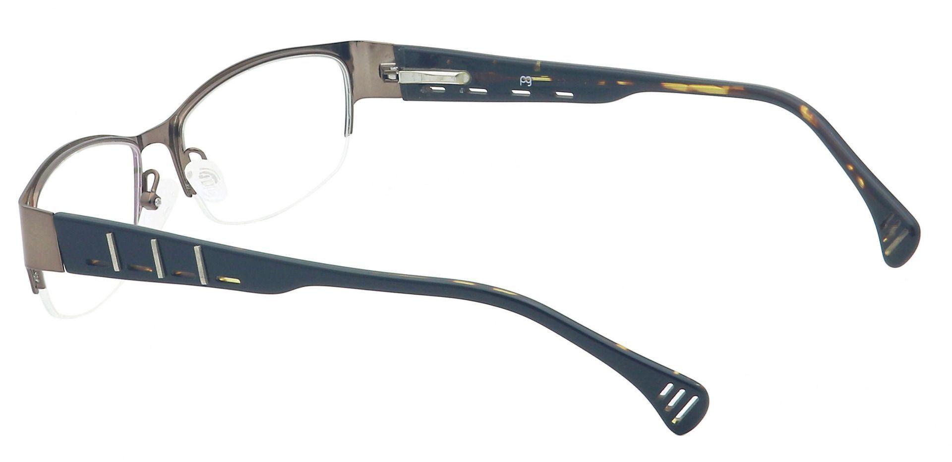 Randall Rectangle Eyeglasses Frame - Brown