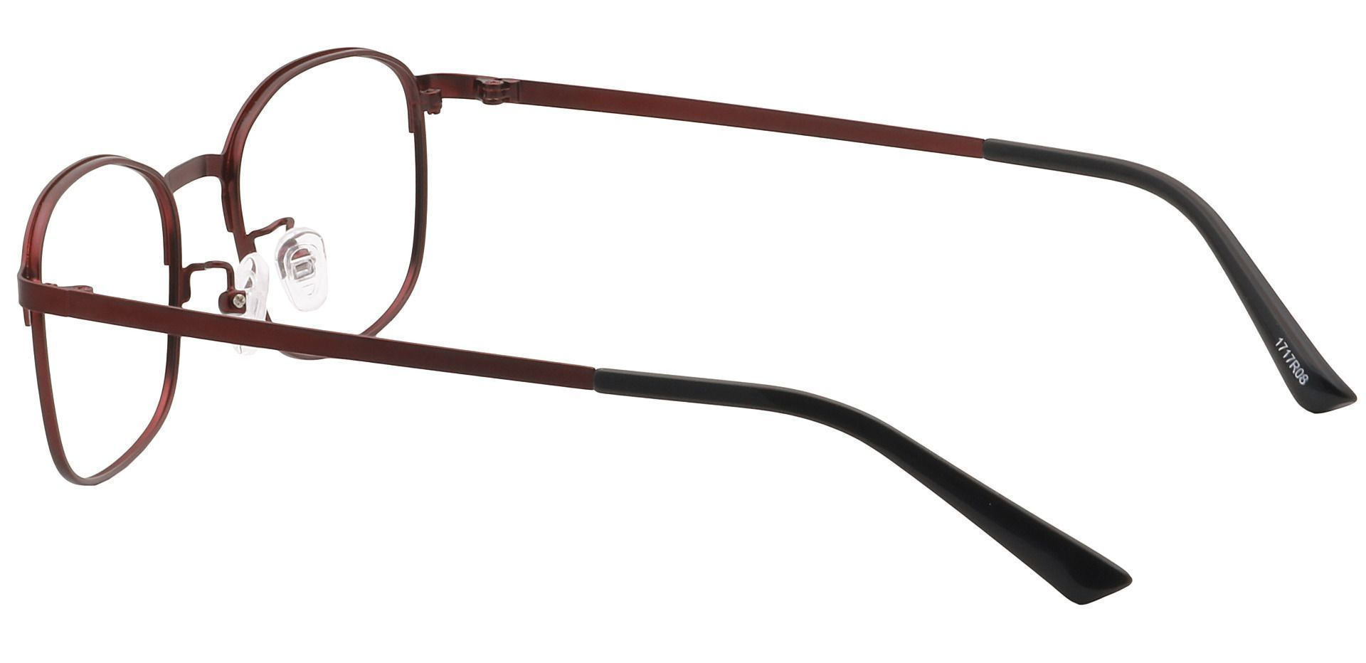 Carmen Square Blue Light Blocking Glasses - Red