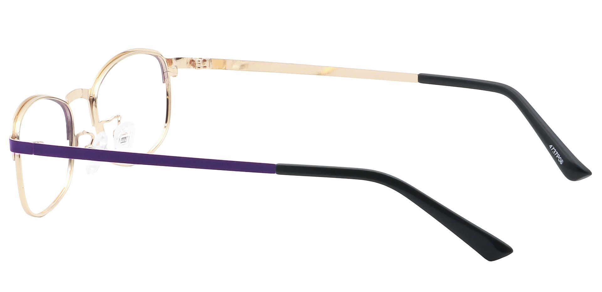 Tyrell Oval Blue Light Blocking Glasses - Purple