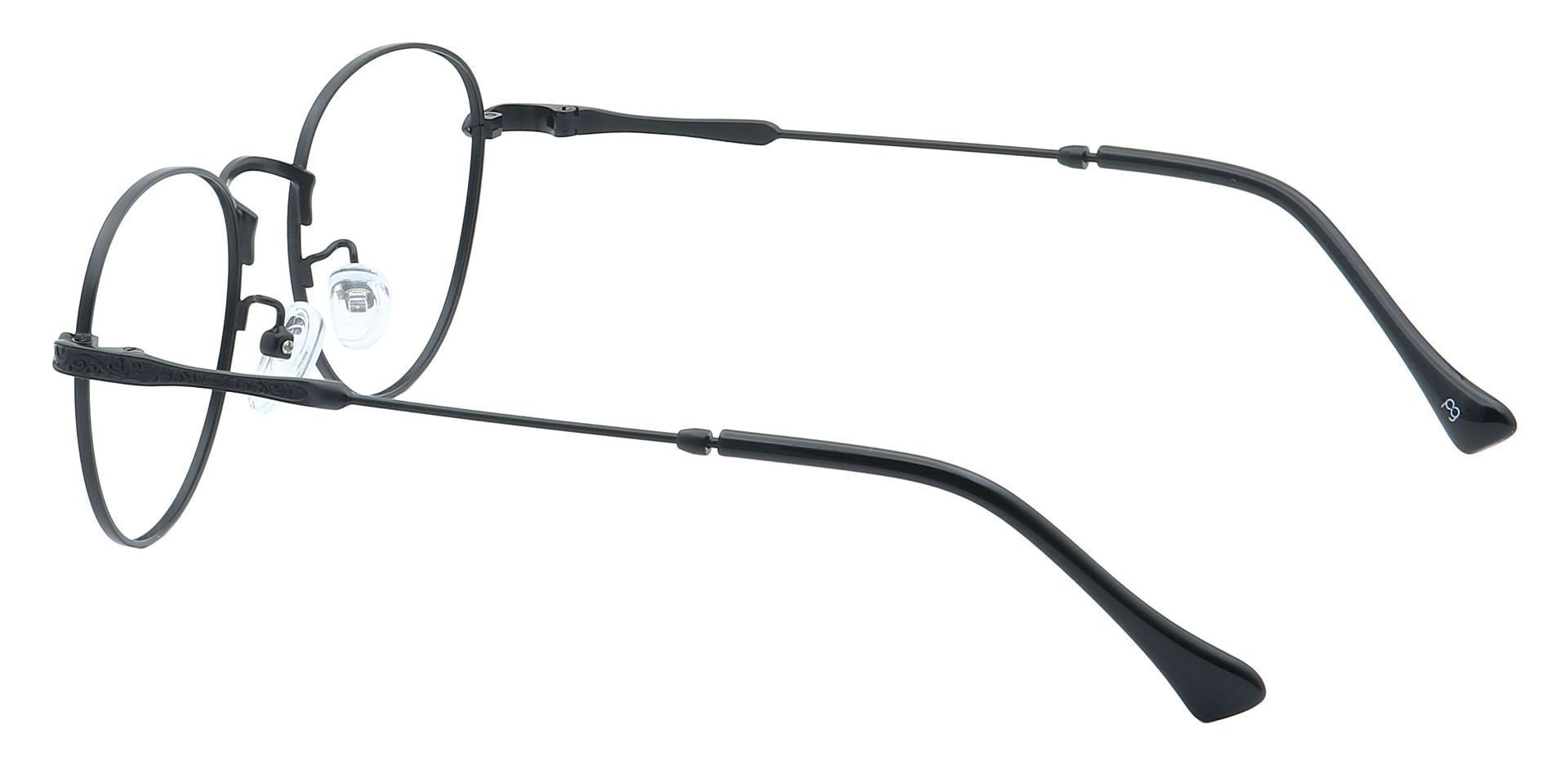 Shawn Oval Non-Rx Glasses - Black