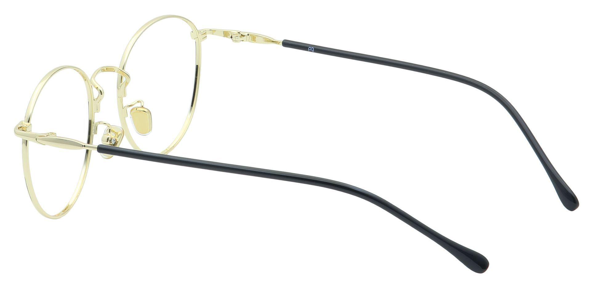 Metro Round Eyeglasses Frame - Black