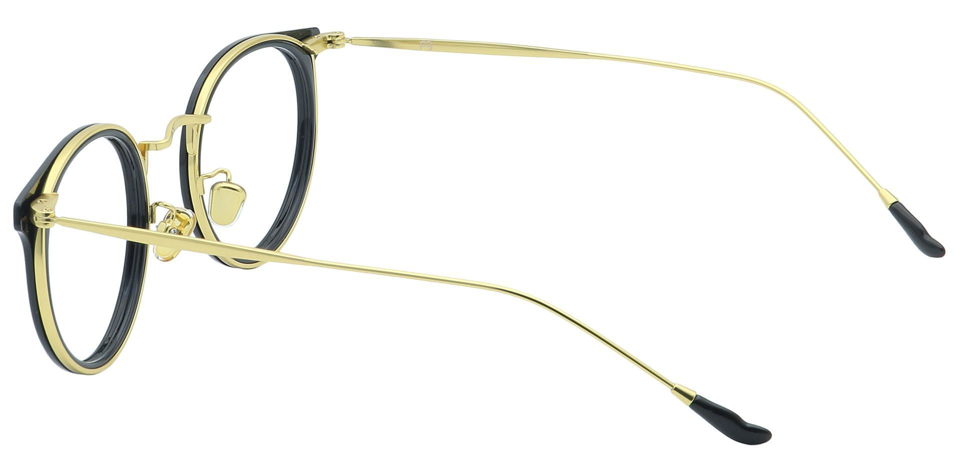 Schenley Round Non-Rx Glasses - Black