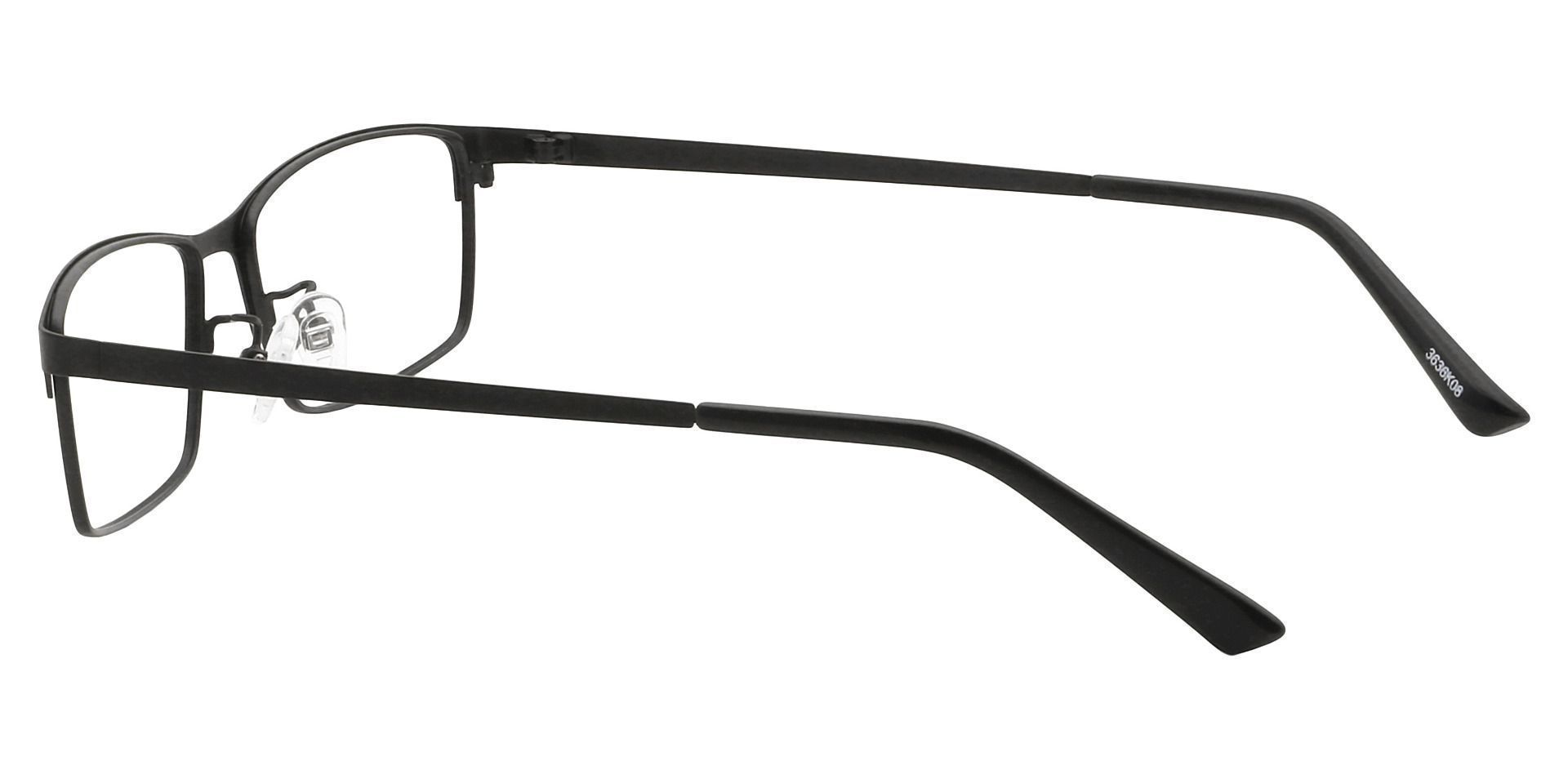 Dallas Rectangle Prescription Glasses - Black