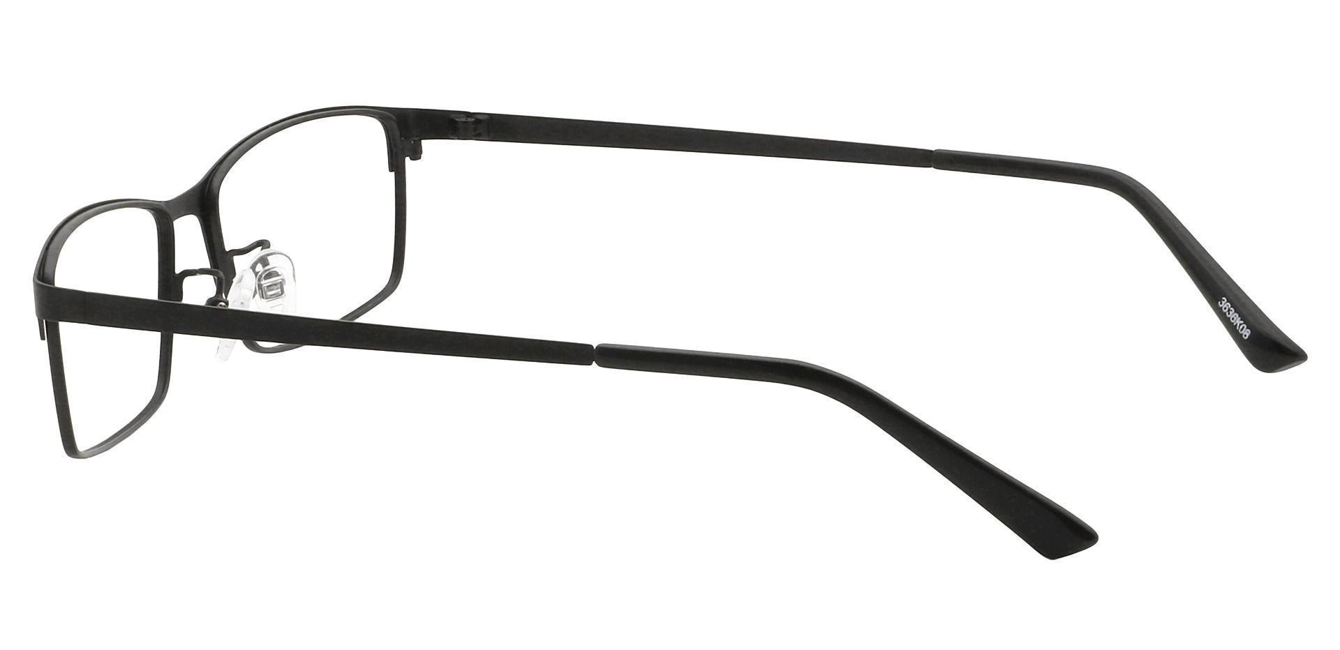 Dallas Rectangle Prescription Glasses - Black