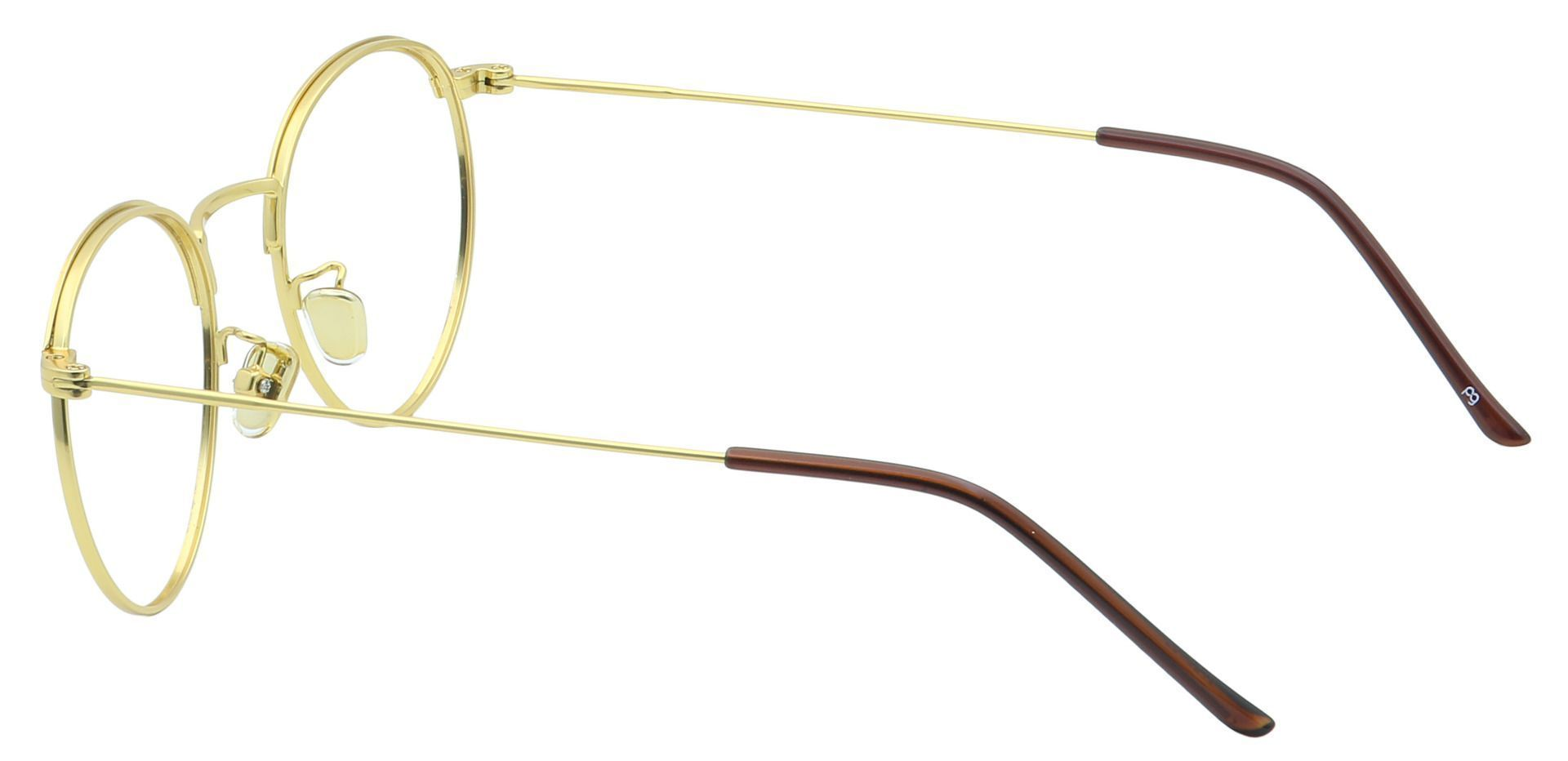 Cooper Oval Blue Light Blocking Glasses - Yellow