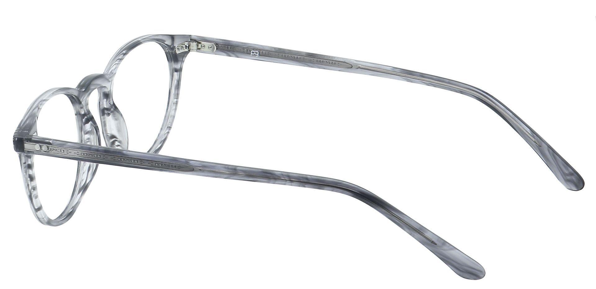 Marley Oval Prescription Glasses - Gray