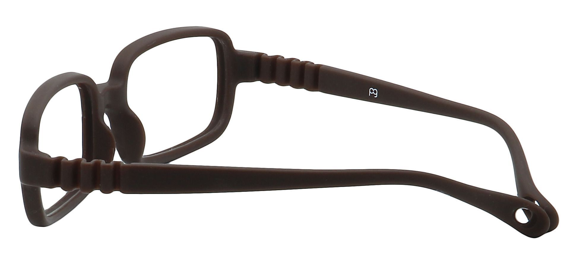 Archer Rectangle Single Vision Glasses - Brown