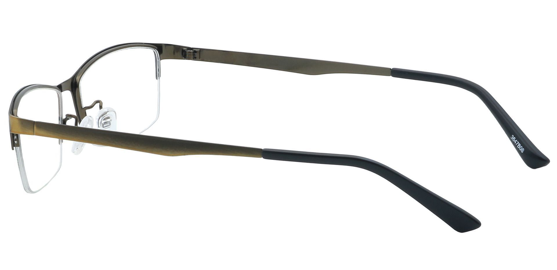 Willis Rectangle Blue Light Blocking Glasses - Brown