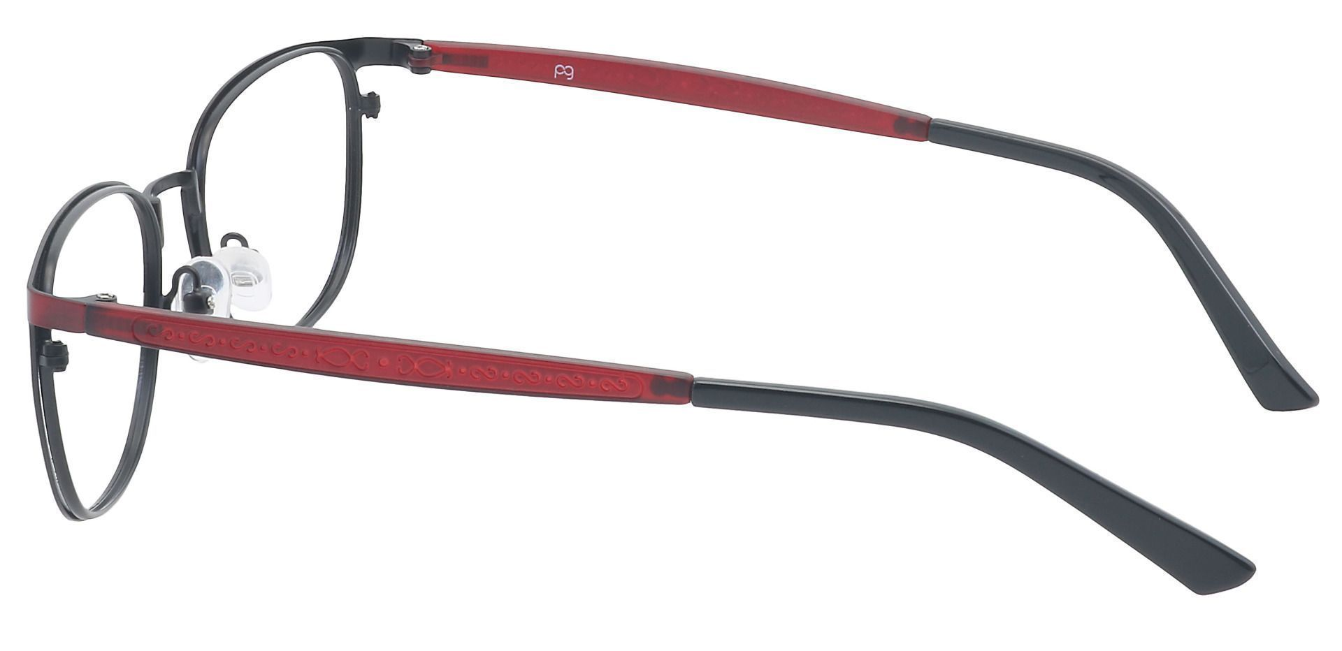 Sailor Square Eyeglasses Frame - Red