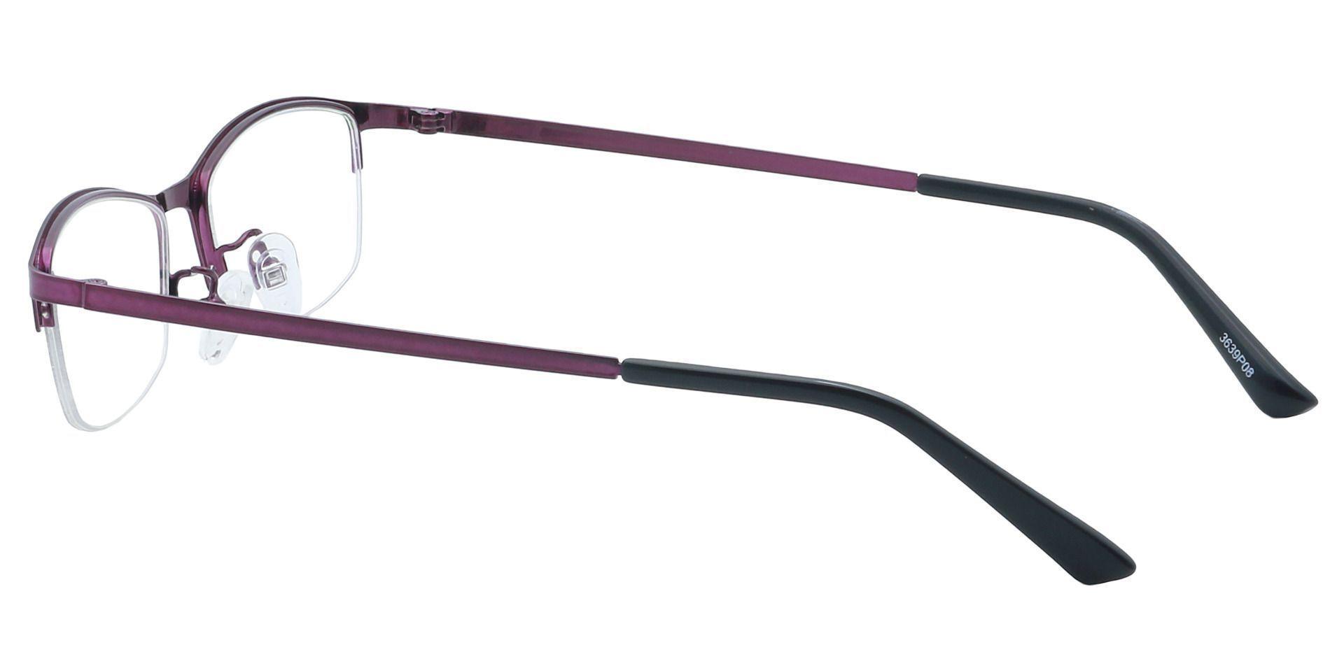 Eliza Rectangle Single Vision Glasses - Purple
