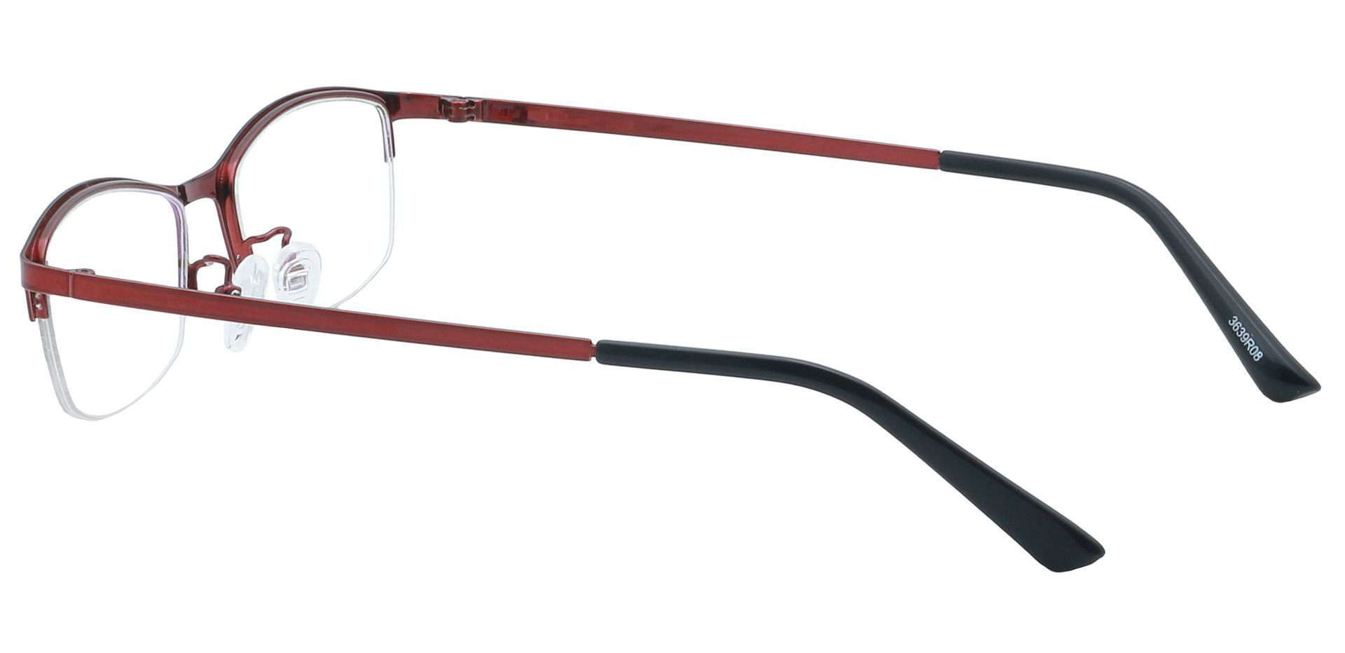 Eliza Rectangle Reading Glasses - Red