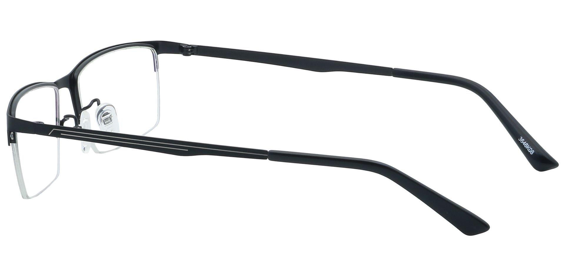 Lombard Rectangle Progressive Glasses - Black