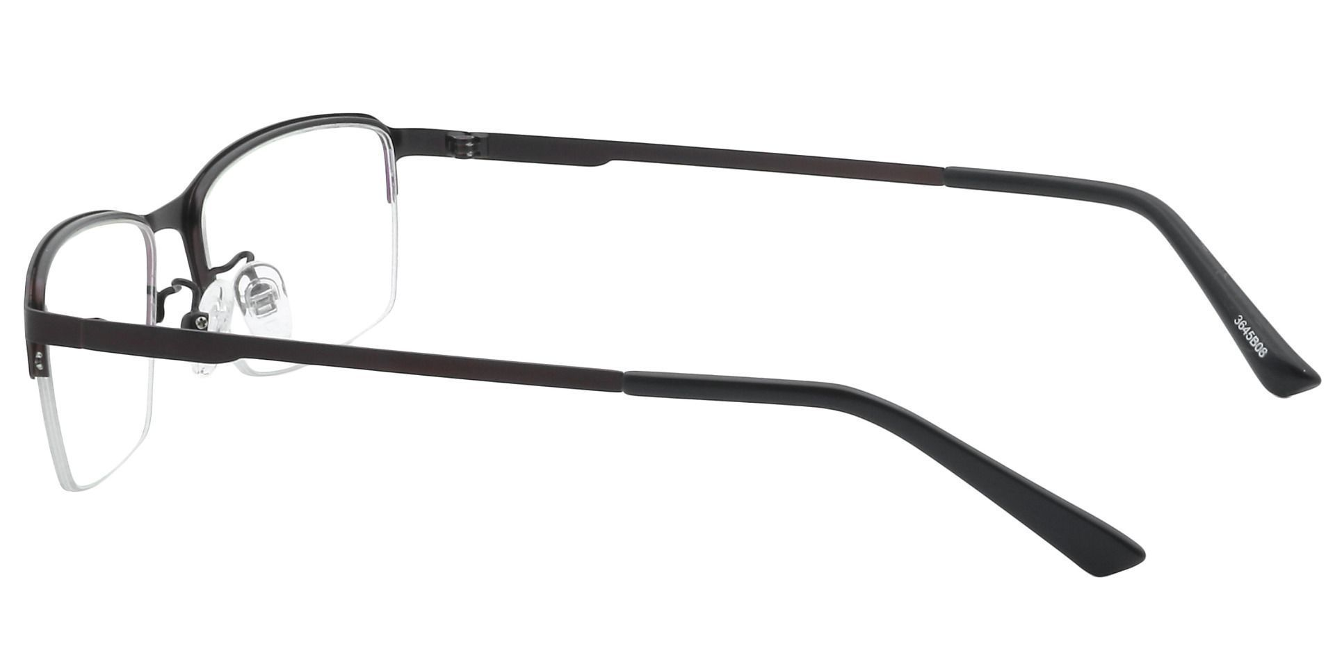 Bennett Rectangle Prescription Glasses - Brown