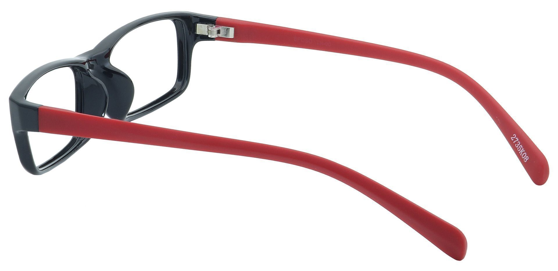 West Rectangle Single Vision Glasses - Black
