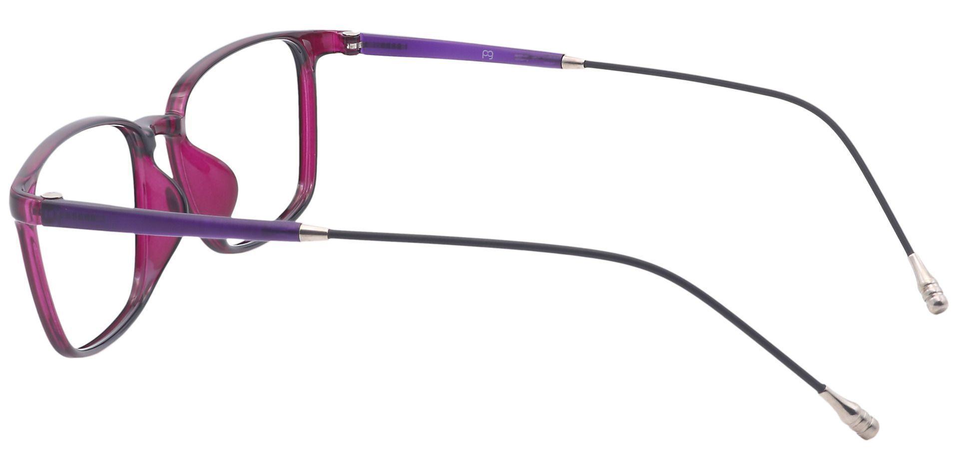 Ivy Rectangle Prescription Glasses - Purple