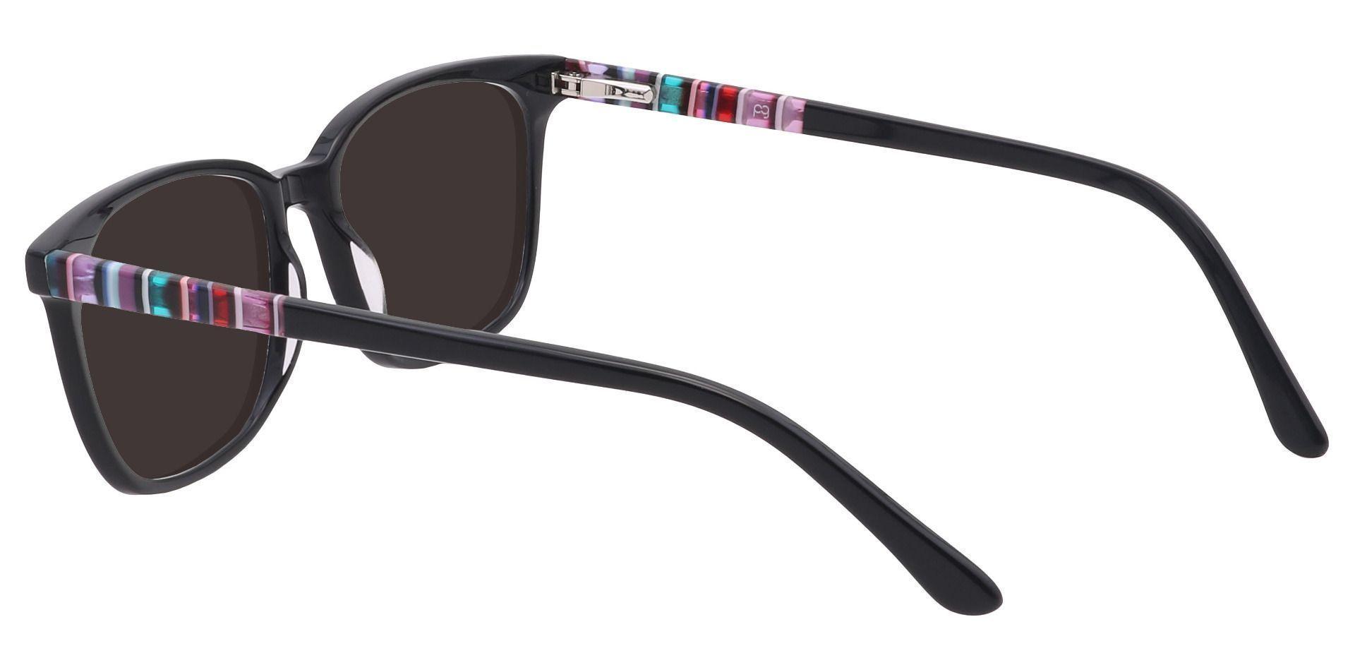 Fern Square Prescription Sunglasses - Black Frame With Gray Lenses