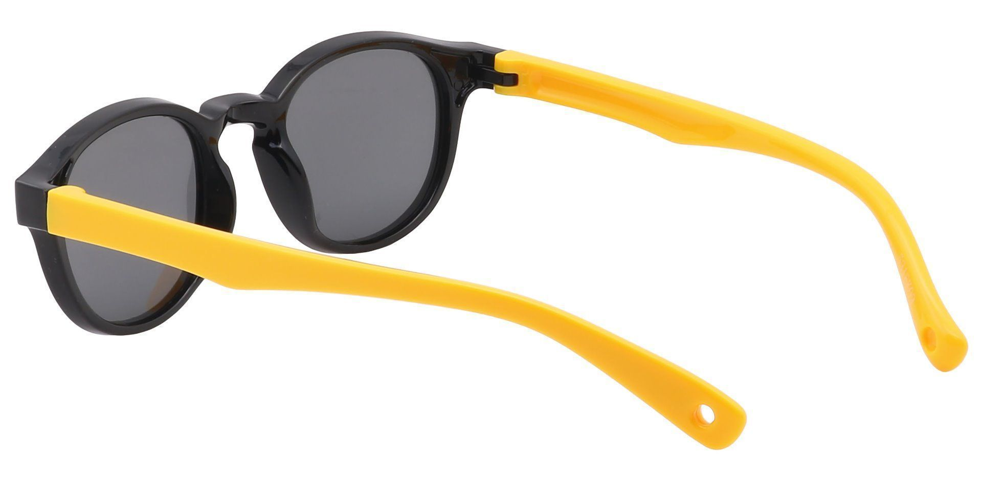 Carbon Round Black Non-Rx Sunglasses