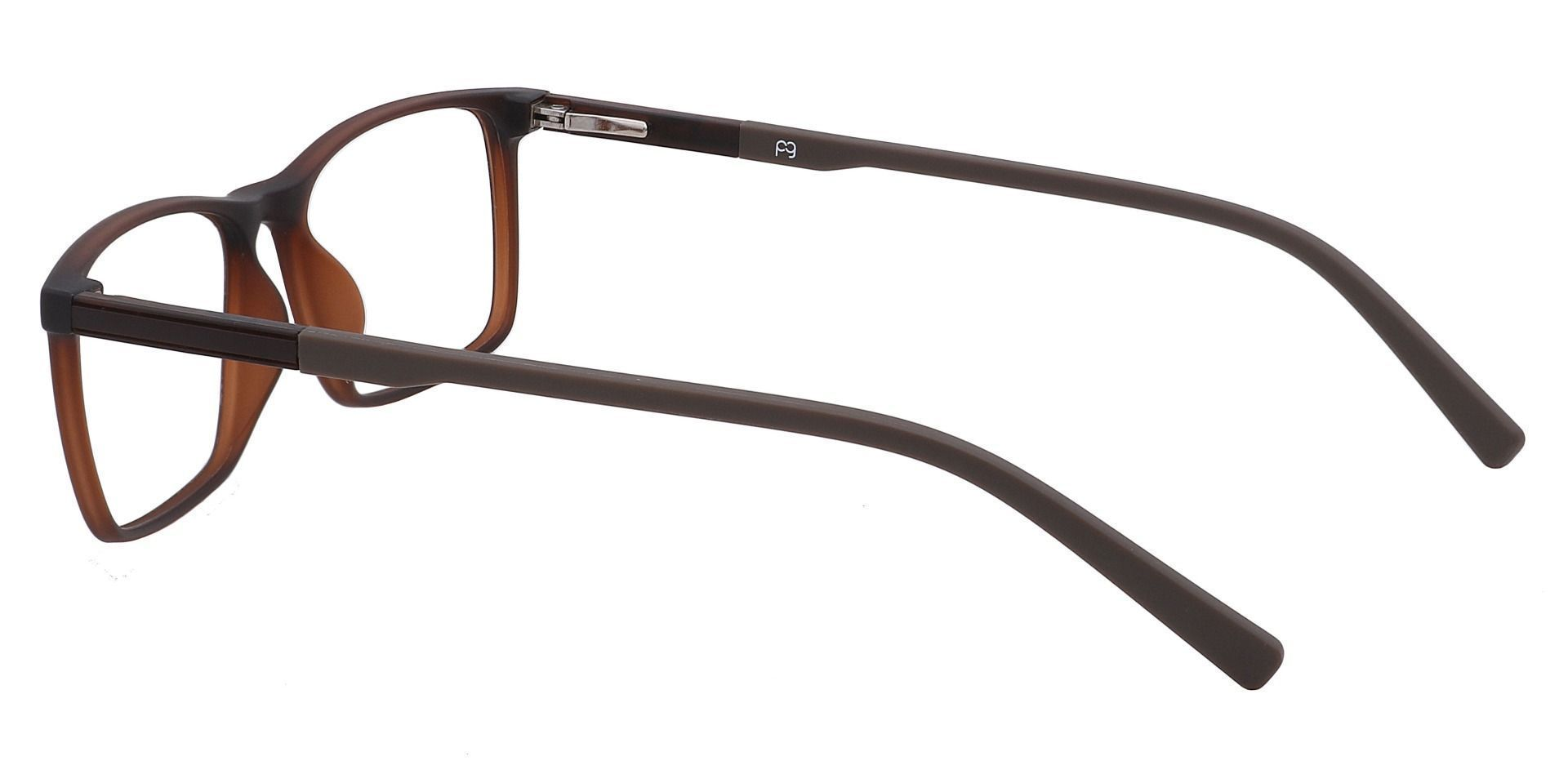 Helga Rectangle Prescription Glasses -  Matte Medium Brown