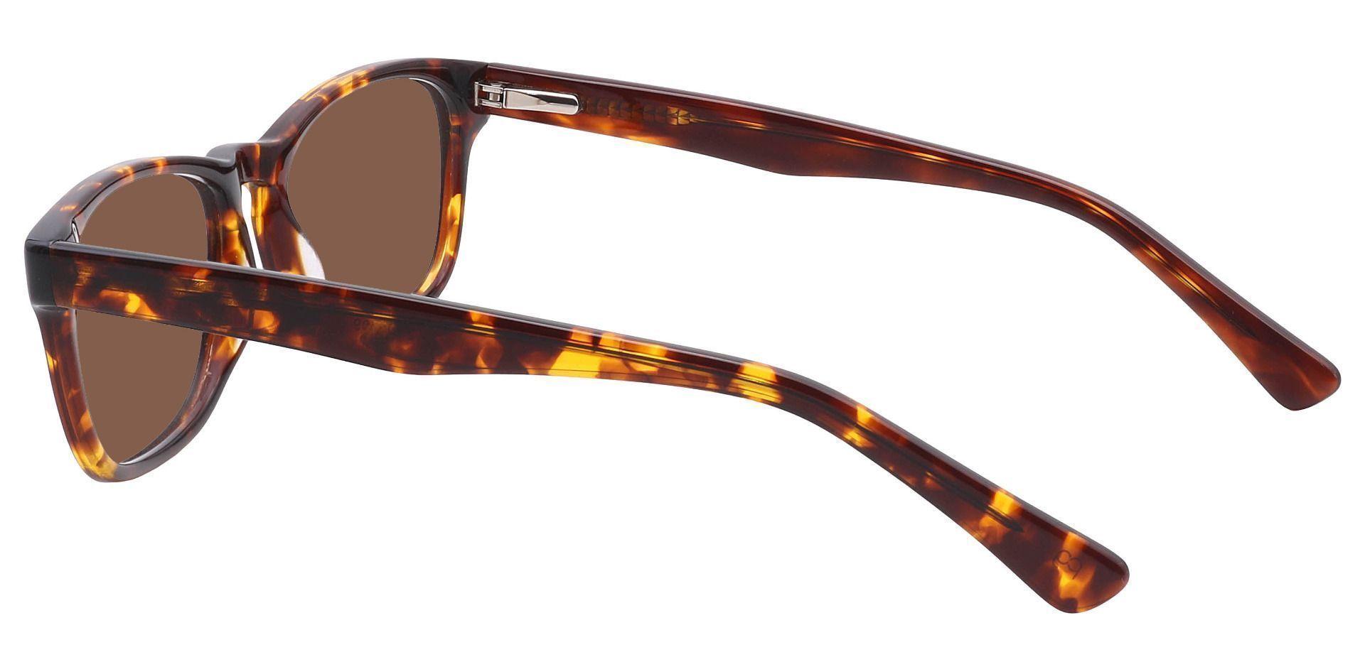 Morris Rectangle Lined Bifocal Sunglasses - Tortoise Frame With Brown Lenses