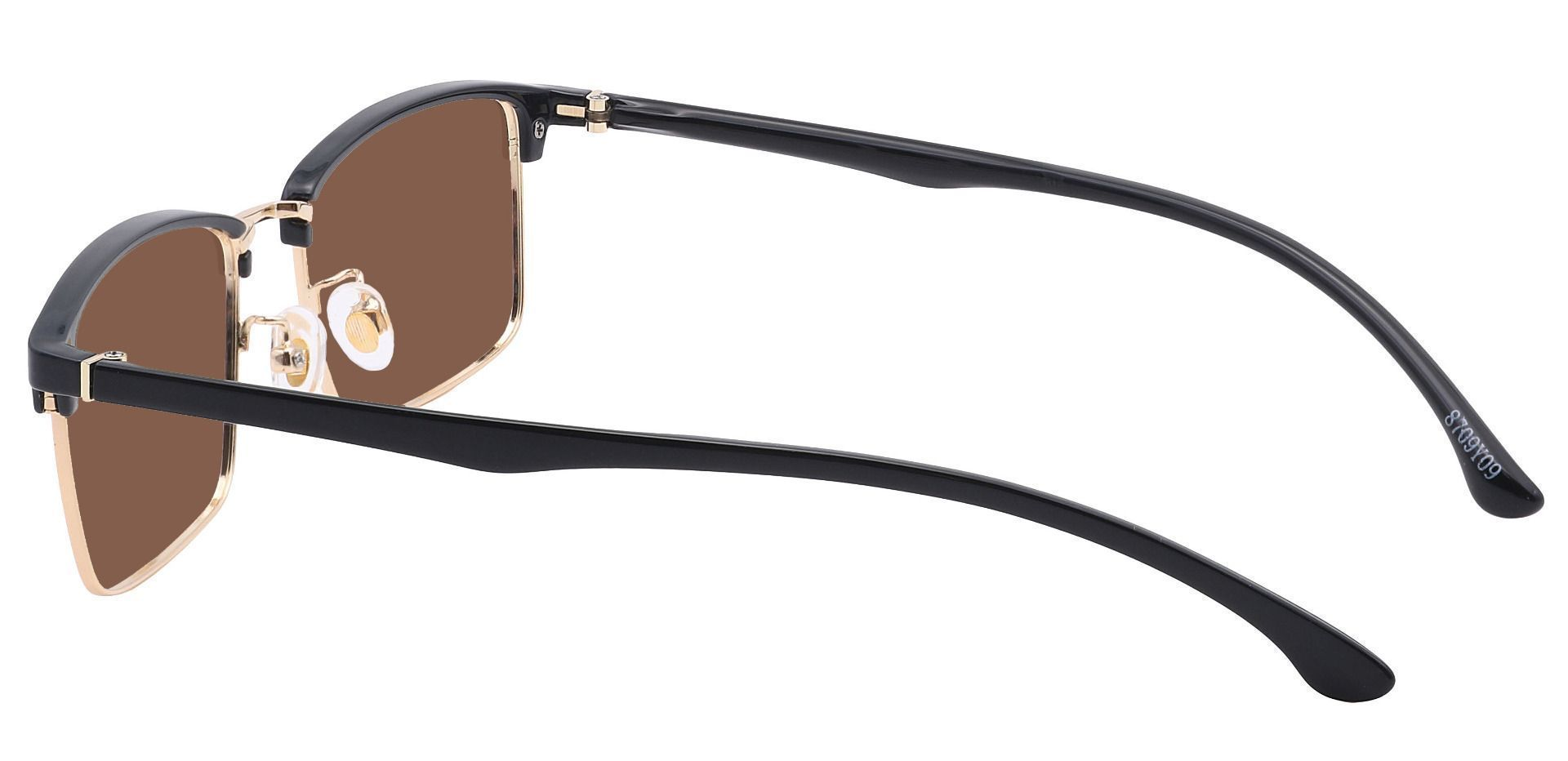 Young Browline Prescription Sunglasses - Yellow Frame With Brown Lenses