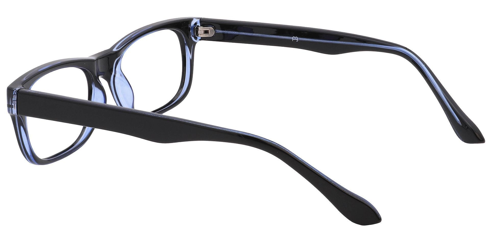 Murphy Rectangle Blue Light Blocking Glasses - The Frame Is Blue And Black