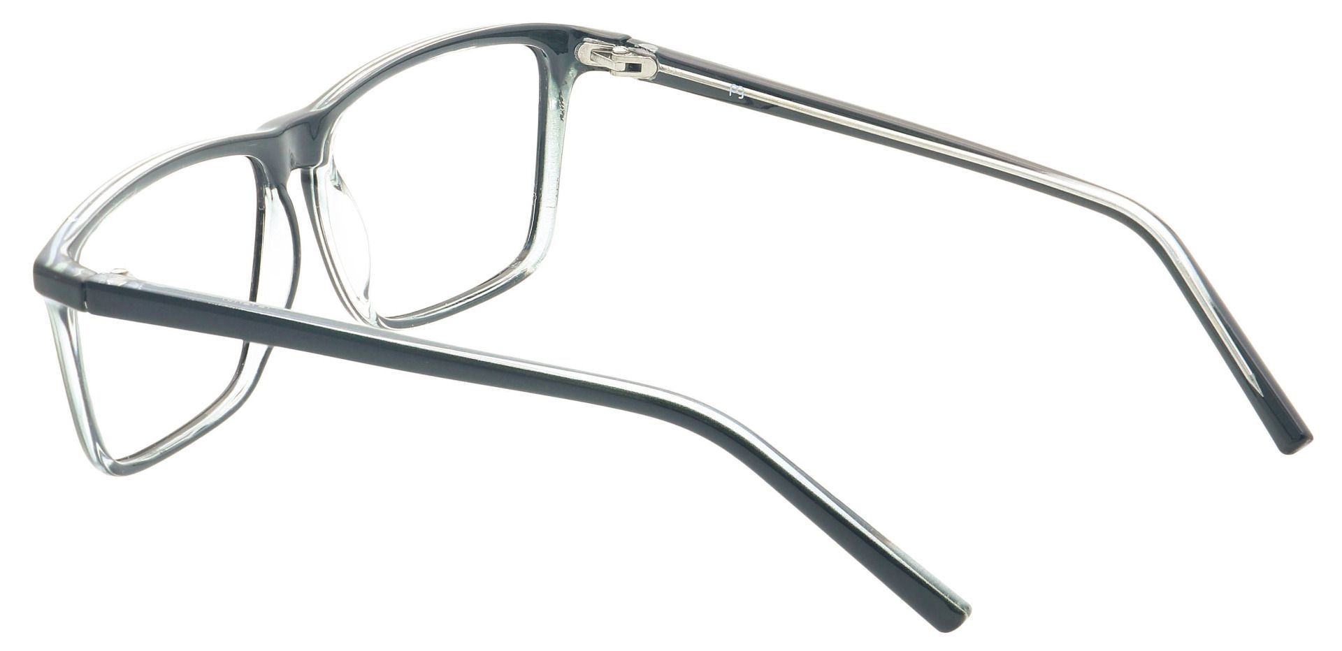 Windsor Rectangle Prescription Glasses - Shiny Black/crystal