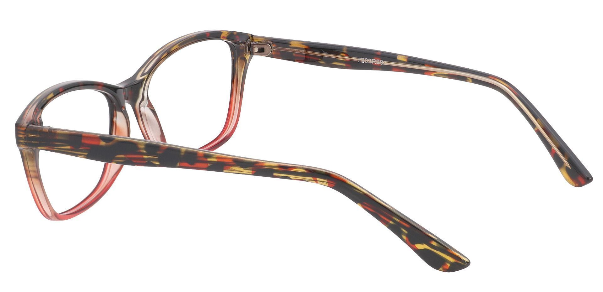 Selena Rectangle Prescription Glasses - Red