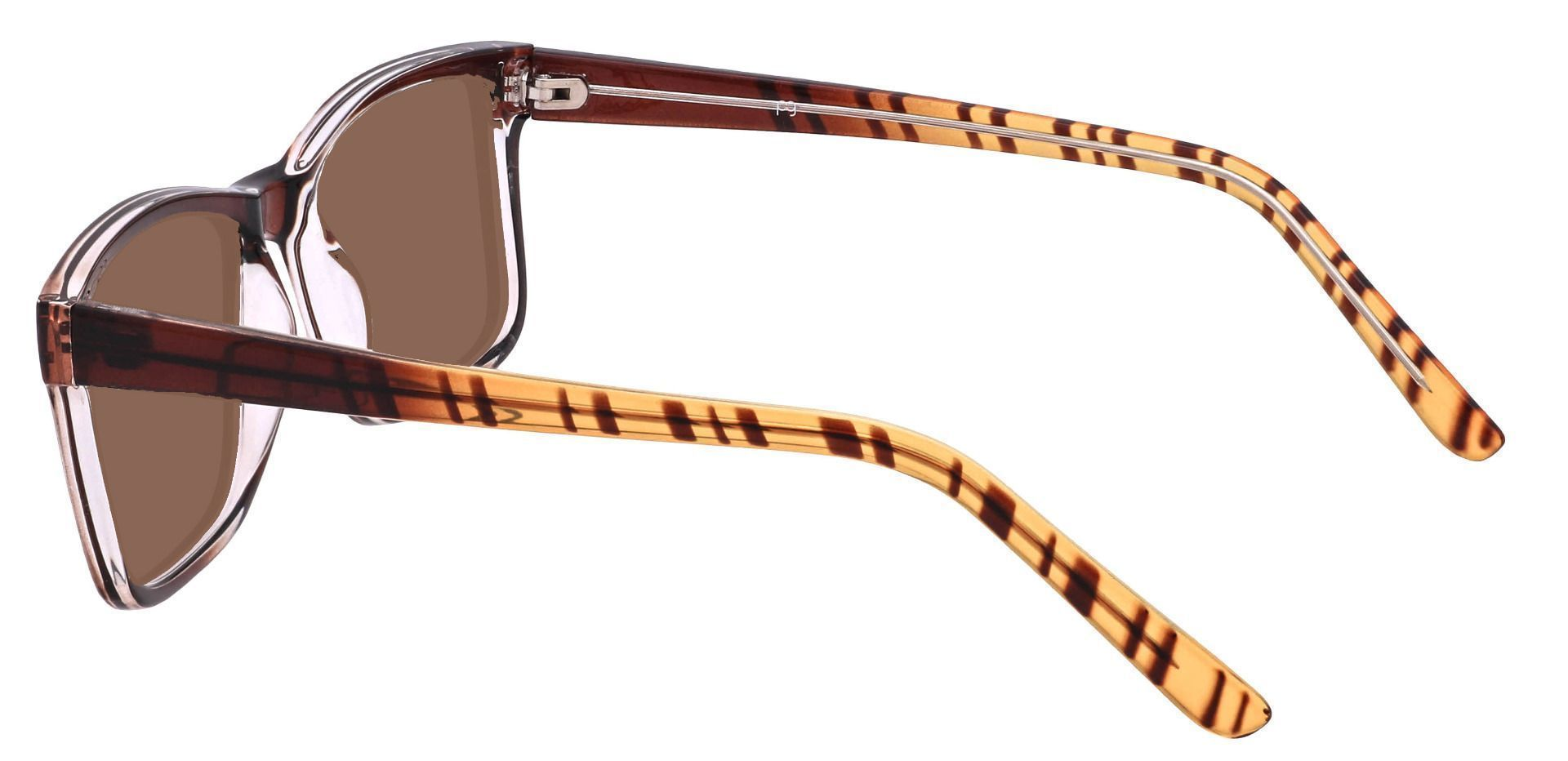 Bedford Rectangle Prescription Sunglasses - Brown Frame With Brown Lenses