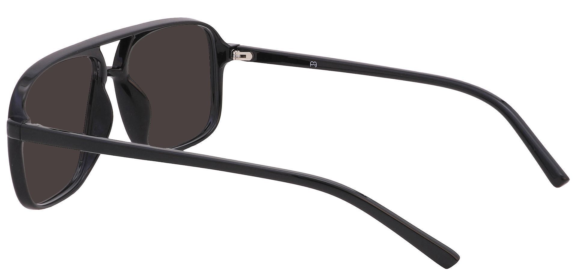 Atwood Aviator Prescription Sunglasses - Black Frame With Gray Lenses