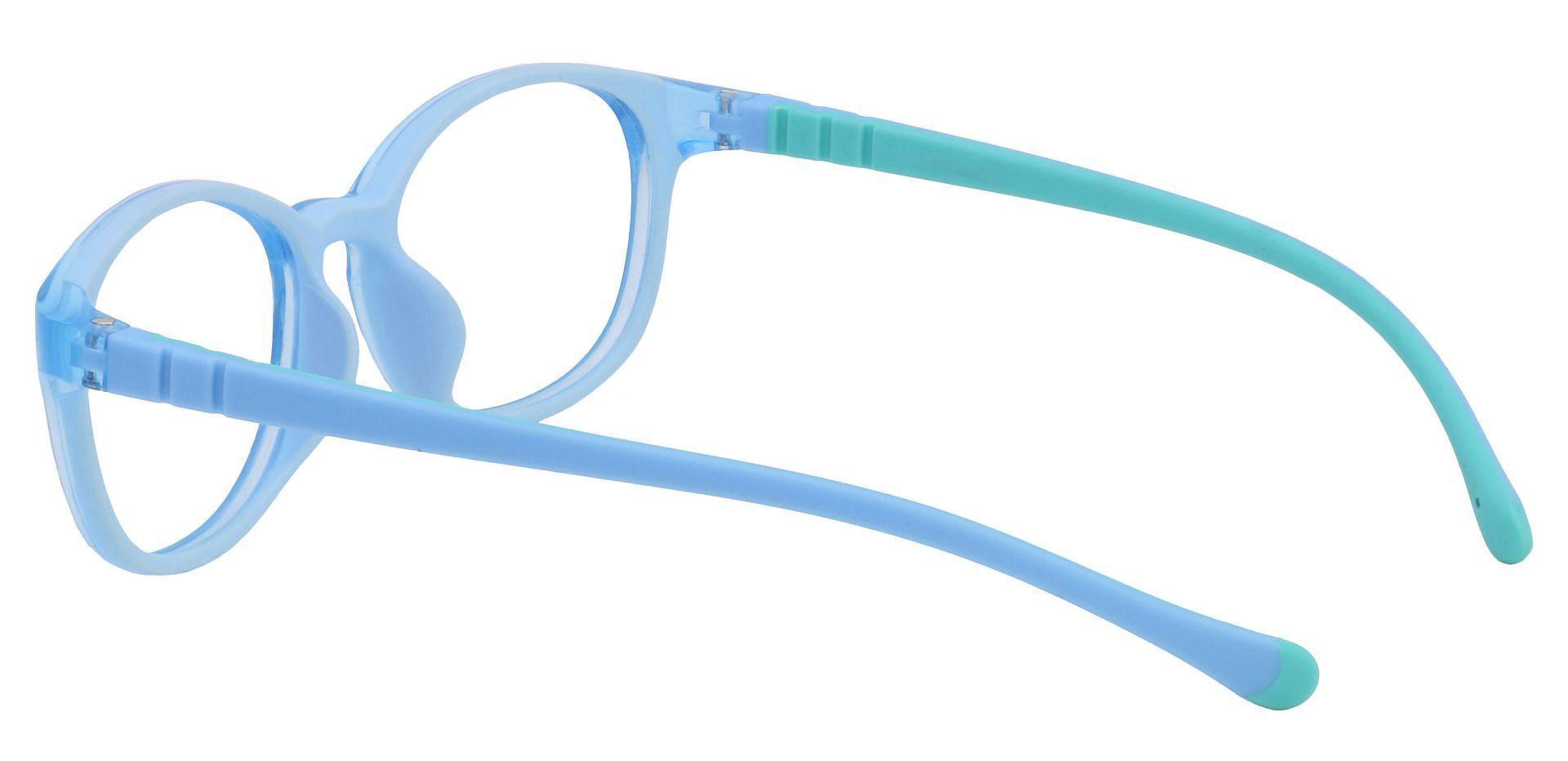 Sapphire Oval Prescription Glasses - Blue