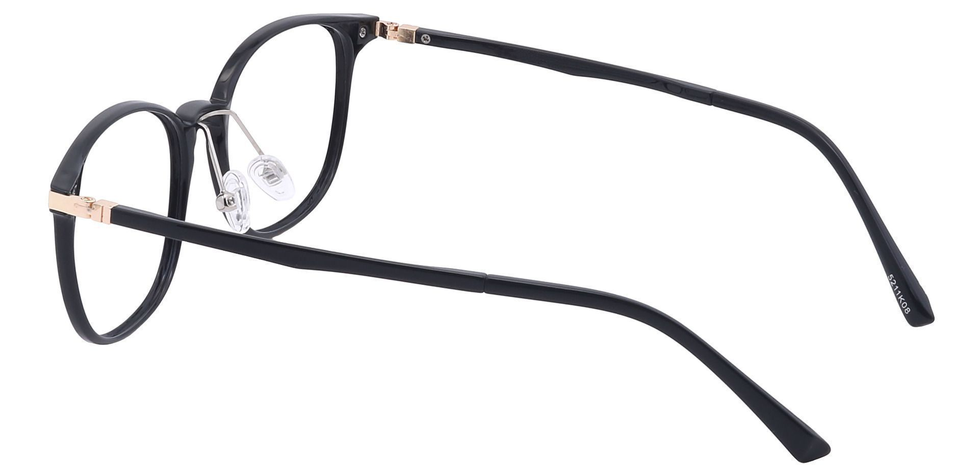 Walker Oval Prescription Glasses - Black