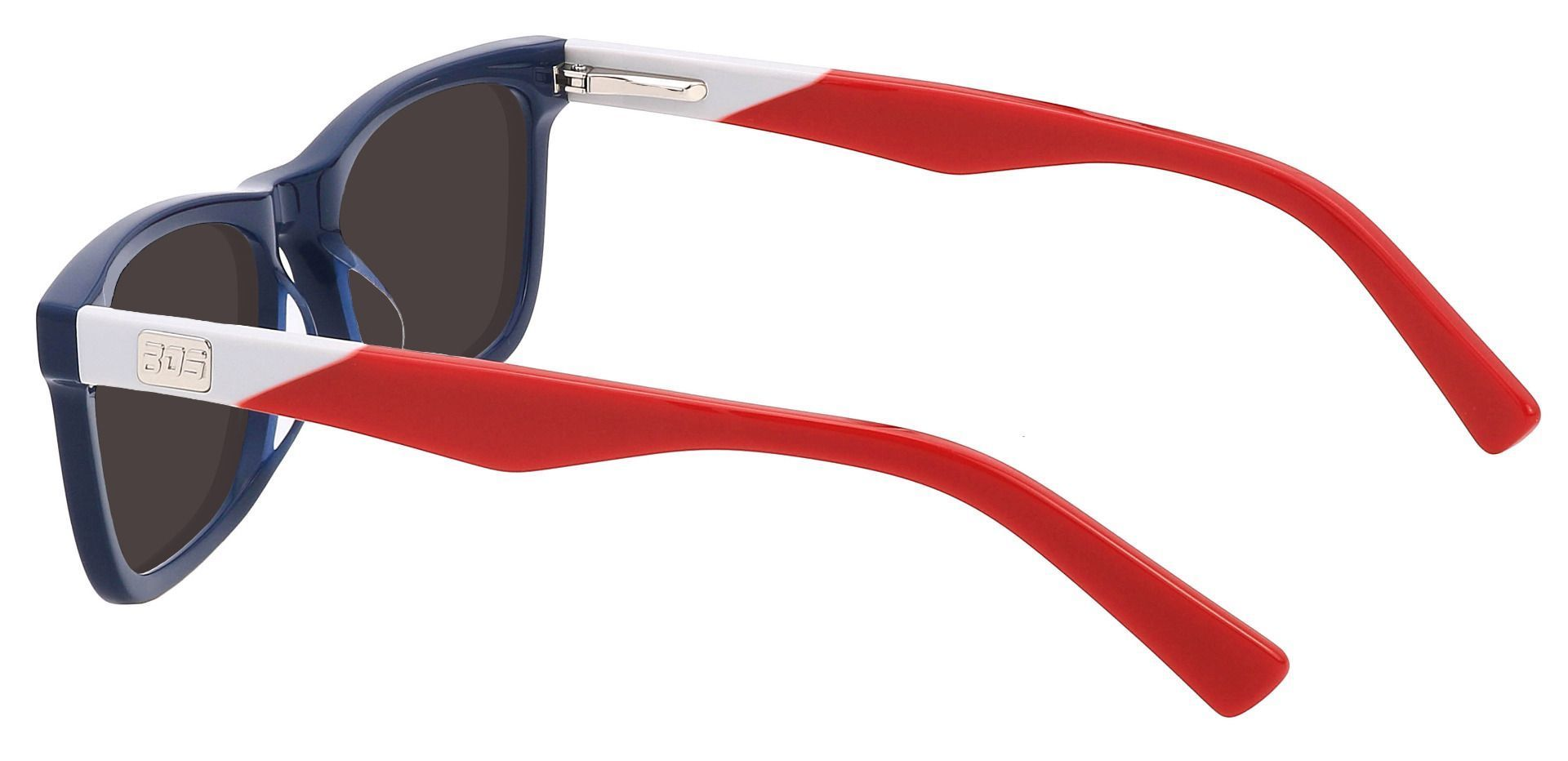 Harbor Rectangle Lined Bifocal Sunglasses - Blue Frame With Gray Lenses