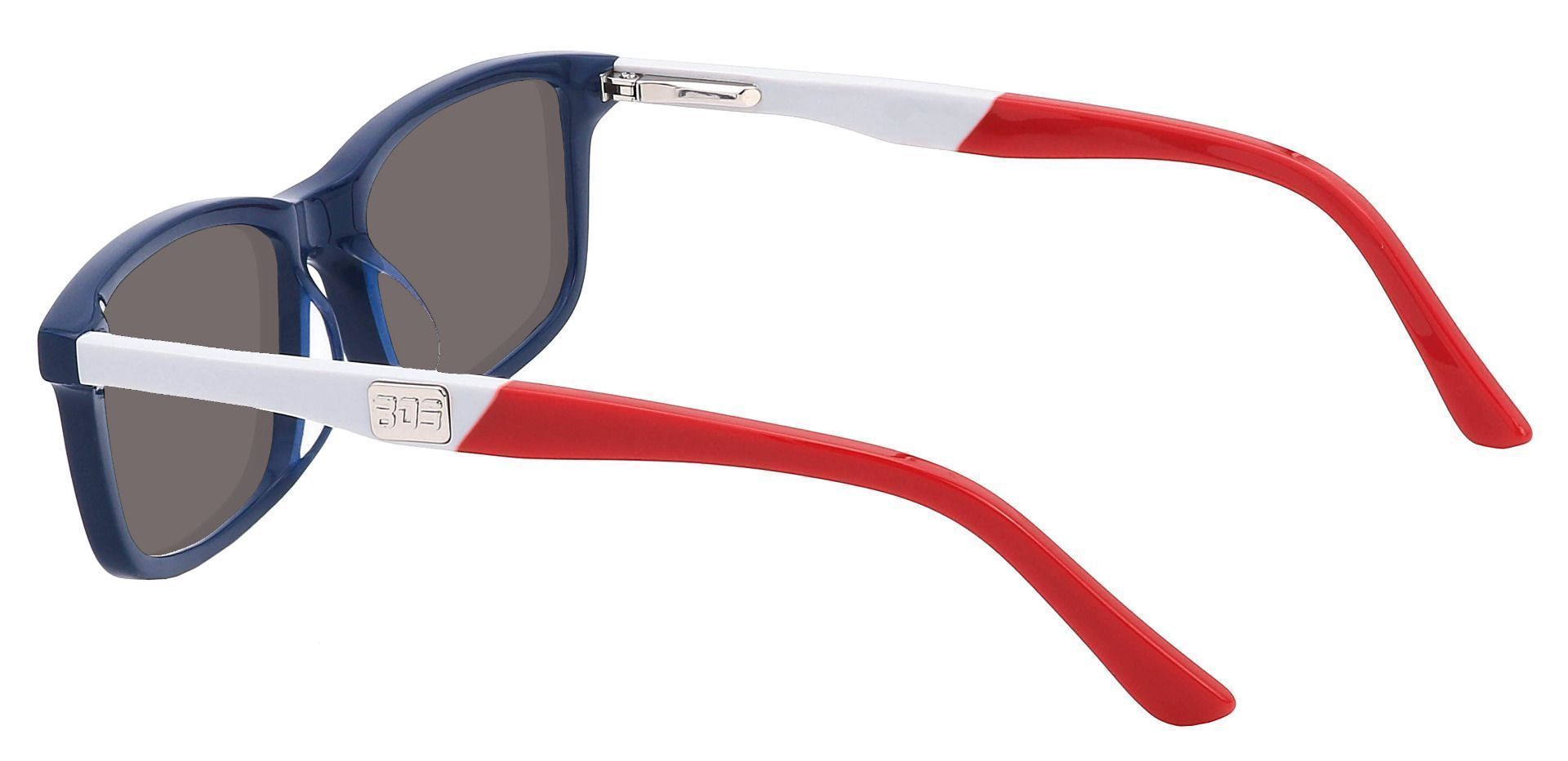Titletown Rectangle Non-Rx Sunglasses - Blue Frame With Gray Lenses