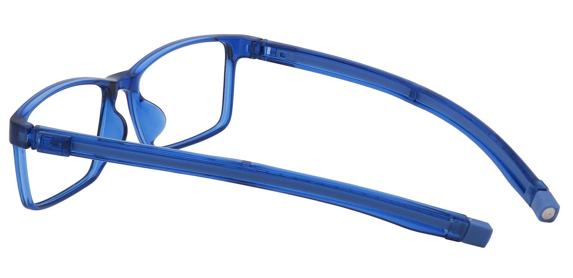 Raine Rectangle Prescription Glasses - Blue