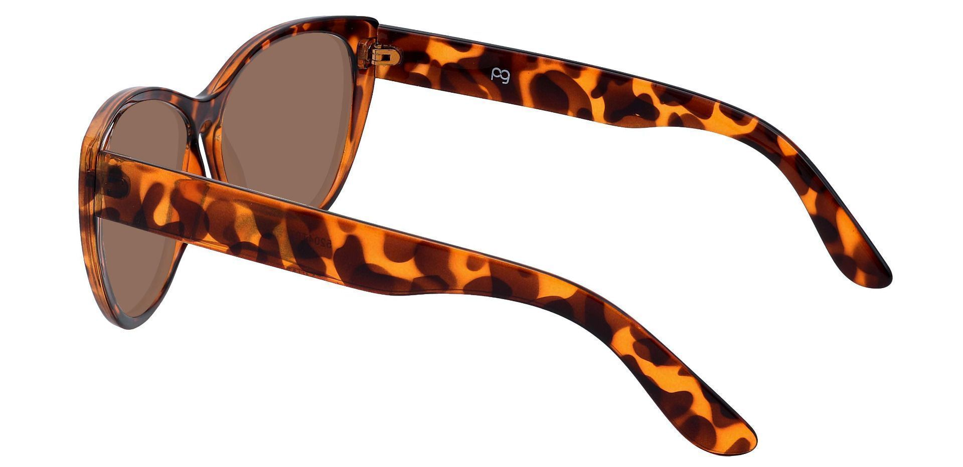 Lynn Cat-Eye Prescription Sunglasses - Tortoise Frame With Brown Lenses