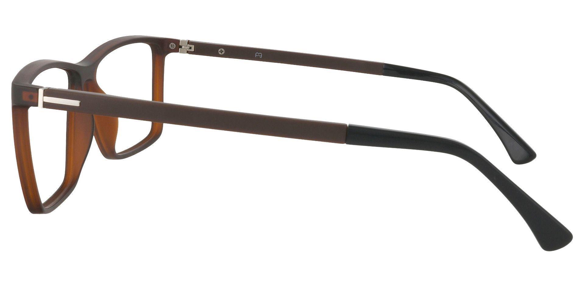 Louie Square Prescription Glasses - Brown
