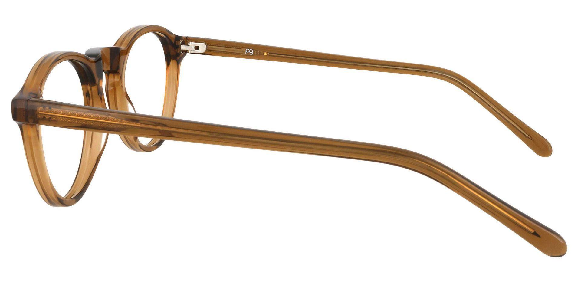 Dory Oval Prescription Glasses - Brown