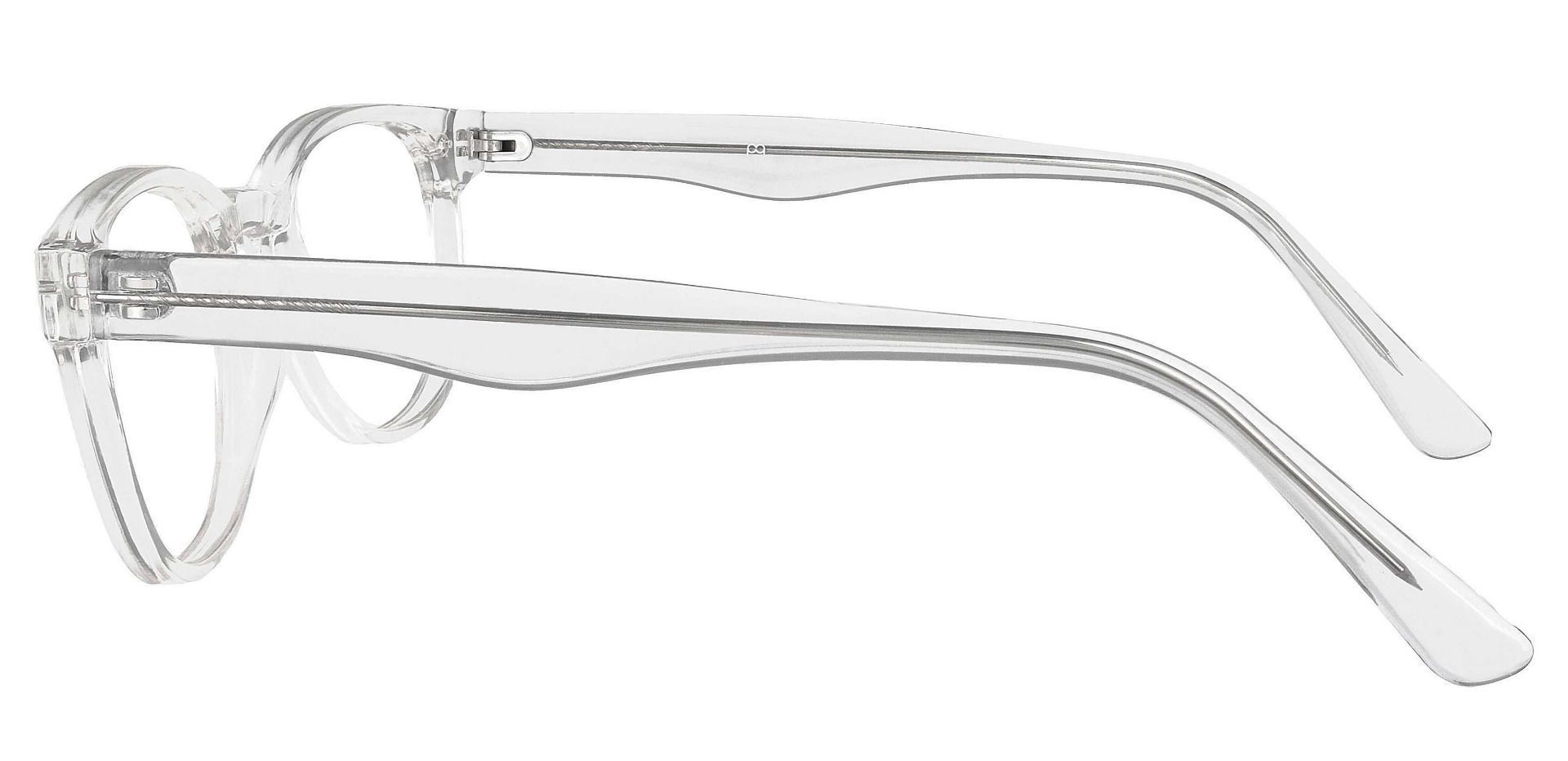 Swirl Classic Square Eyeglasses Frame - Clear