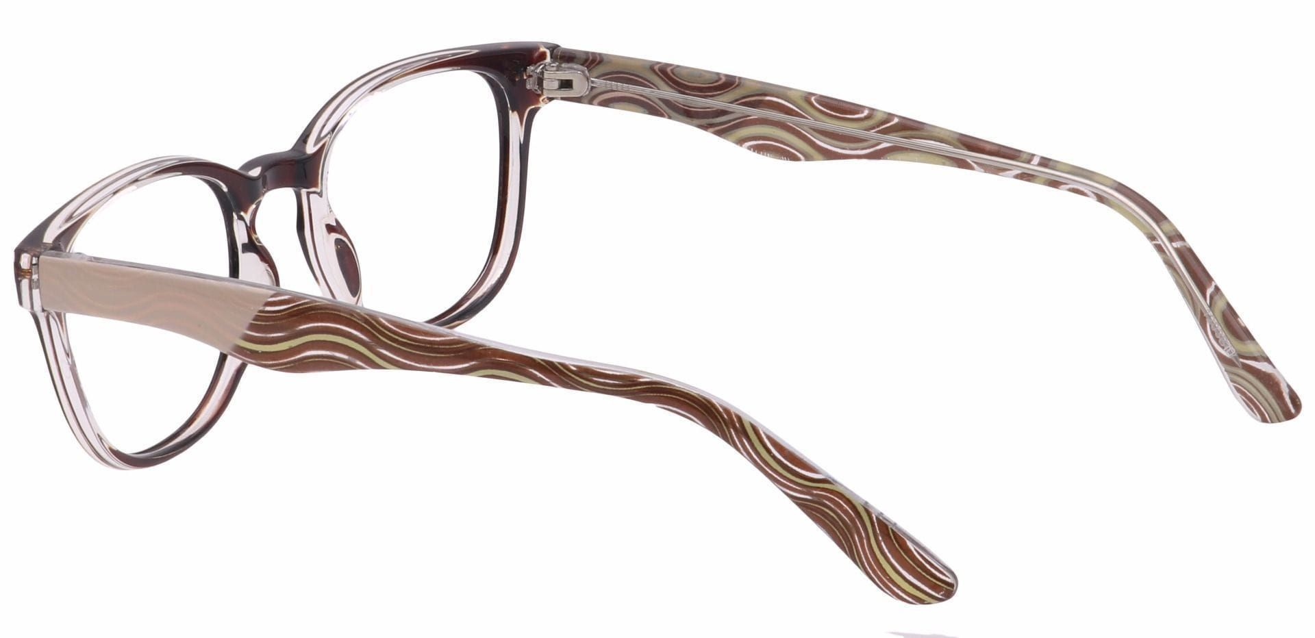 Swirl Classic Square Non-Rx Glasses - Brown