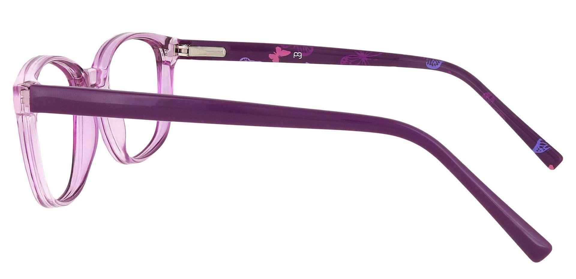 Branson Rectangle Single Vision Glasses - Purple
