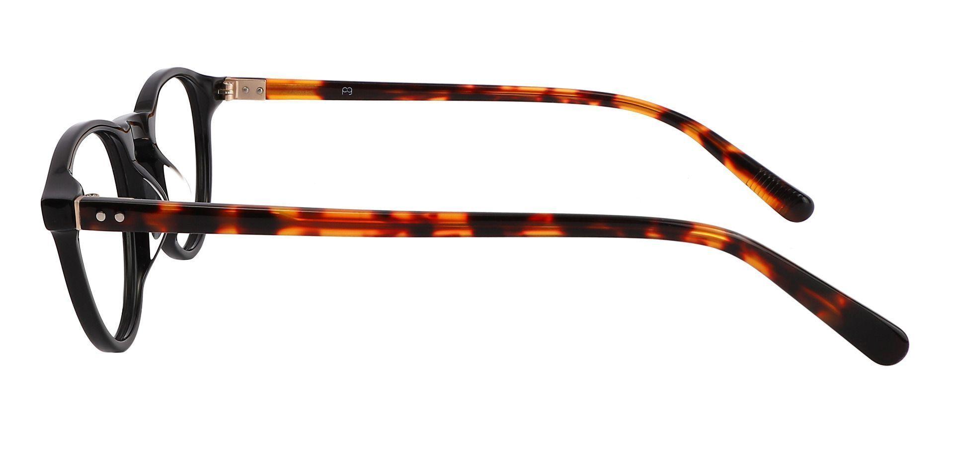 Monarch Oval Prescription Glasses - Black