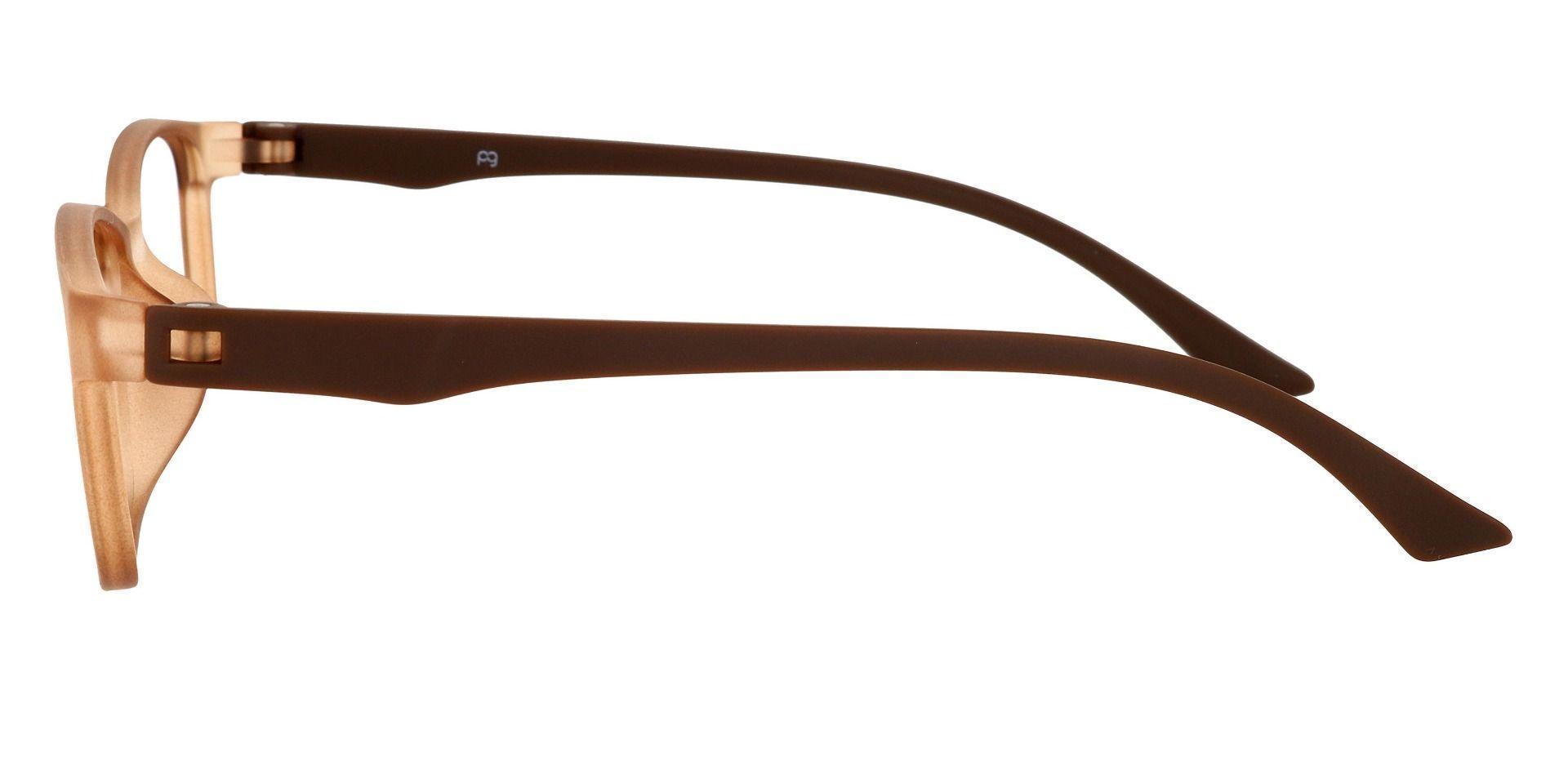 Wichita Rectangle Prescription Glasses - Brown