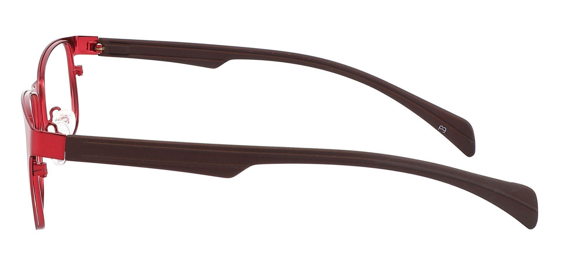 Duncan Rectangle Prescription Glasses - Red