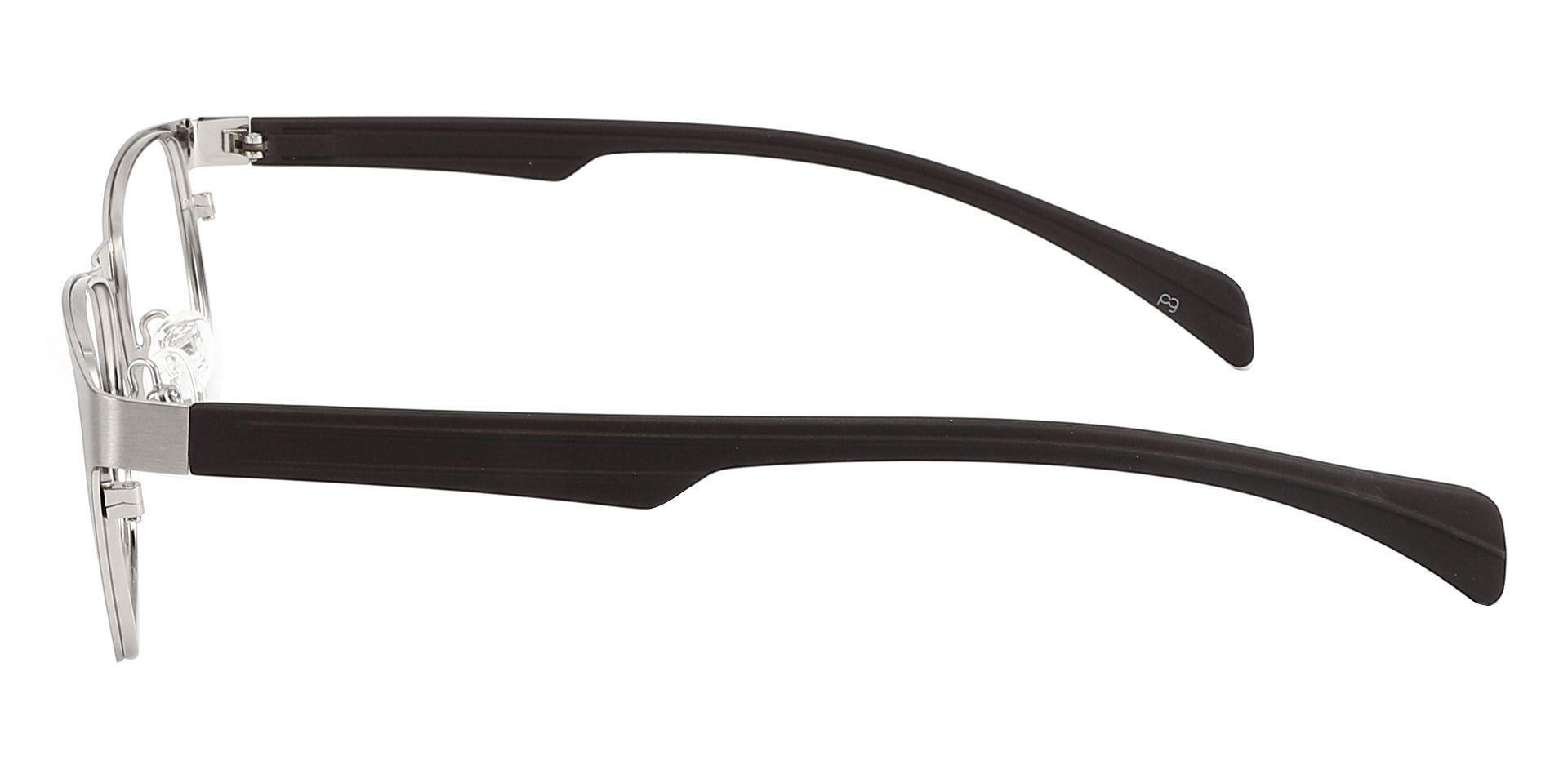 Duncan Rectangle Progressive Glasses - Silver