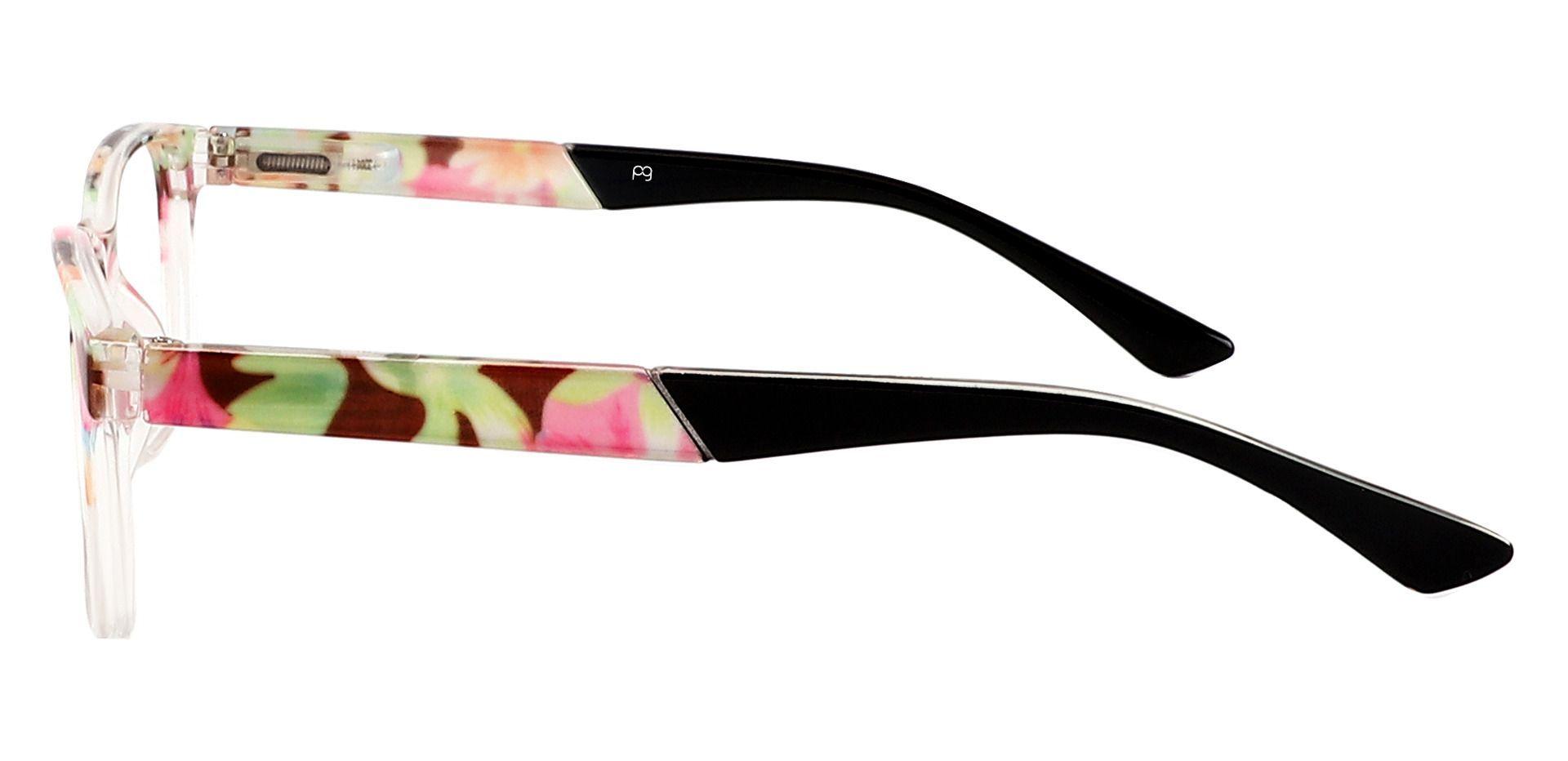 Catalina Rectangle Eyeglasses Frame - Floral