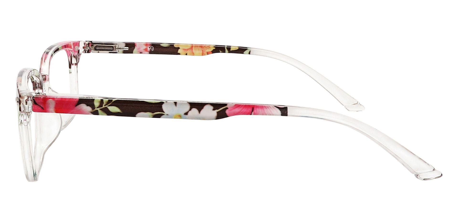 Nikola Rectangle Non-Rx Glasses - Floral