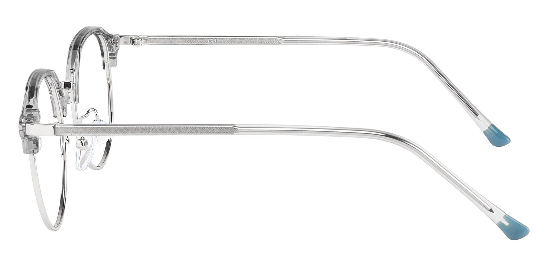 Nutmeg Browline Prescription Glasses - Gray