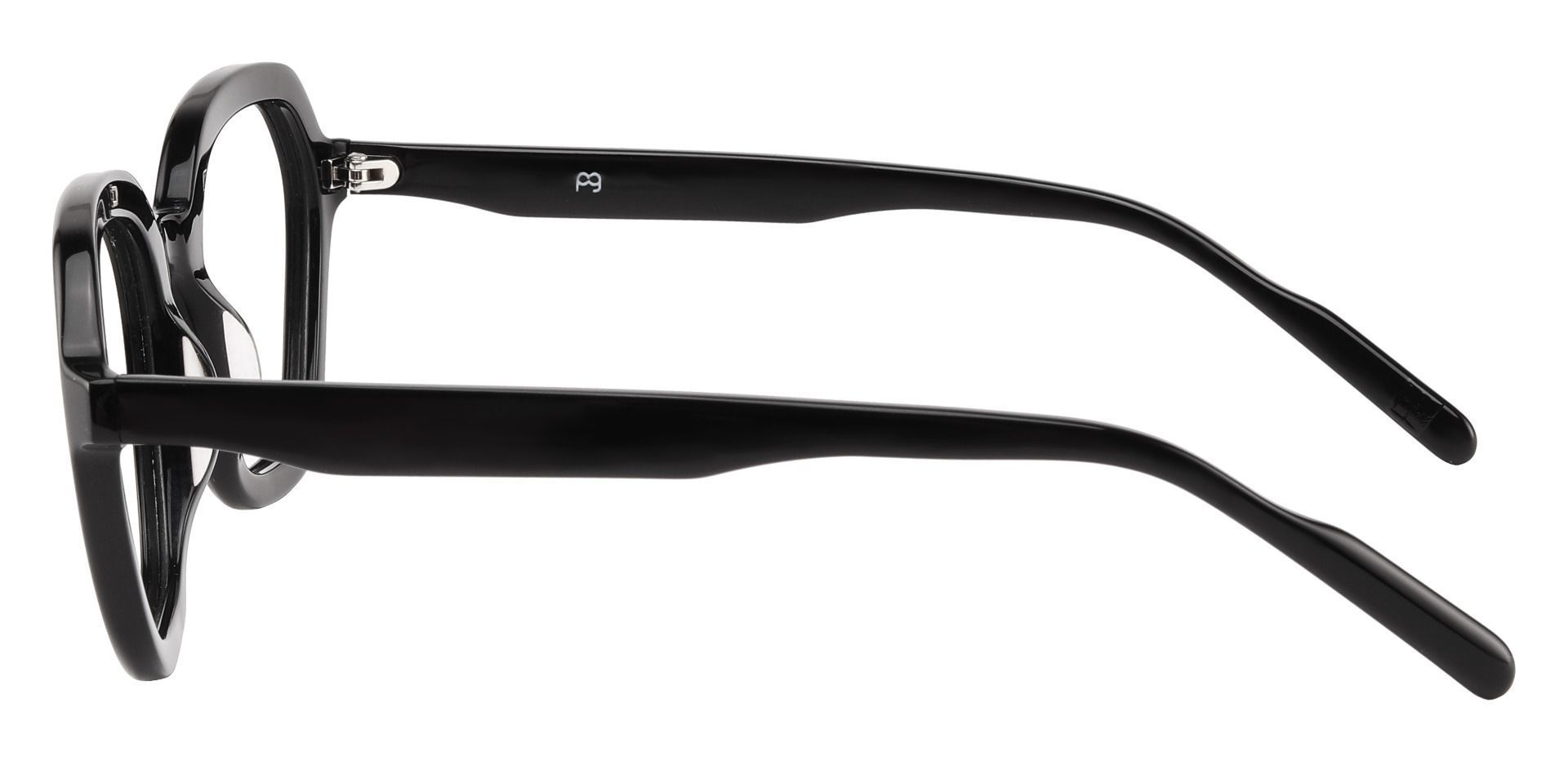 Mandarin Geometric Prescription Glasses - Black