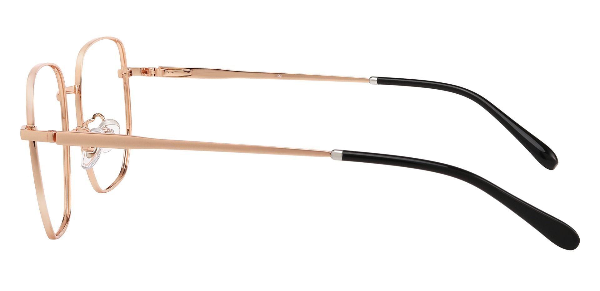 Swayze Geometric Prescription Glasses - Gold