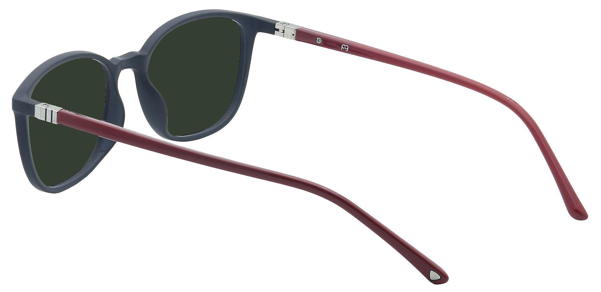 Karleen Oval Prescription Sunglasses - Black Frame With Green Lenses